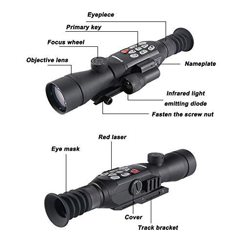 DJym Rifle Scope 2 DJym GPS HD High-Powered Night Vision Monocular, Zoom Digital Video Camera for Outdoor Hunting Rangefinder