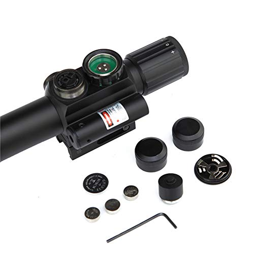 DJym Rifle Scope 5 DJym 4X25 Sight, Universal Sight Hunting Rifle Scope, Waterproof, Anti-Fog and Shockproof