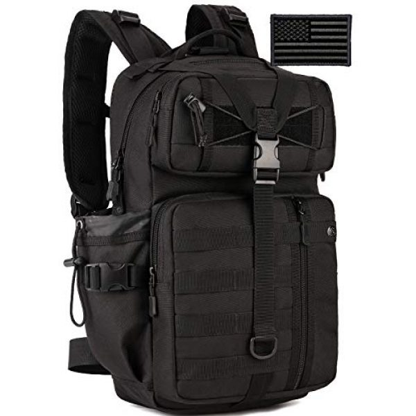 Protector Plus Tactical Backpack 1 Protector Plus Tactical Motorcycle Backpack Small Military MOLLE Cycling Hydration Daypack (Rain Cover & Patch Included)