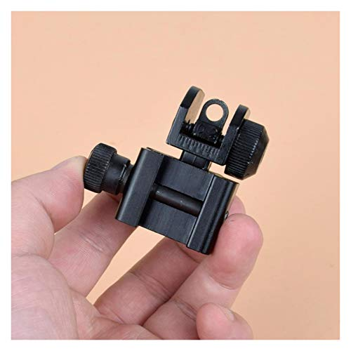 Without Rifle Scope 3 Toy Gun Sight Red dot Sight Magnification 1 Pair of BUIS Front and Rear Sights can be Flipped Quick-Change Iron Sights, Shotgun Accessories (Color : Black)