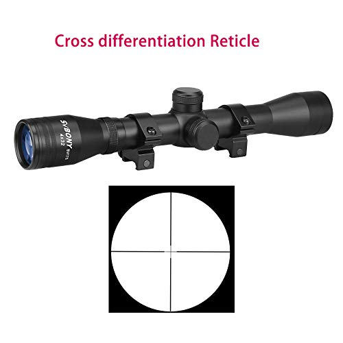 SVBONY Rifle Scope 4 SVBONY SV175 Rifle Scope,4x32,Hunting rifle scope,Ample eye relief,Cross differentiation Reticle,With 20mm Free Mounts
