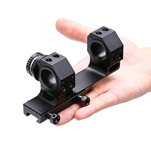 HHFC Rifle Scope 5 HHFC Sight Clip One-Piece Scope Mount with Bubble Level for 1 Inch/30mm Diameter Riflescopes