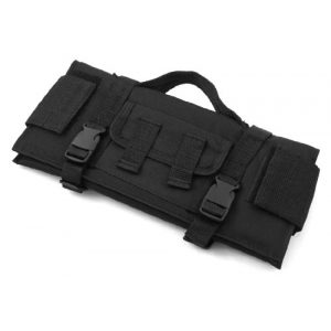ETG Rifle Scope Cover 1 ETG 11inch Foam Padded Soft Nylon Tactical Scope Red Dot Sight Protection Guard Cover Shield with Webbing Straps