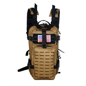 Warriors Product  1 Warriors Product Small Assault Backpack Military Tactical Backpack Bag with Flag Patch for Outdoor