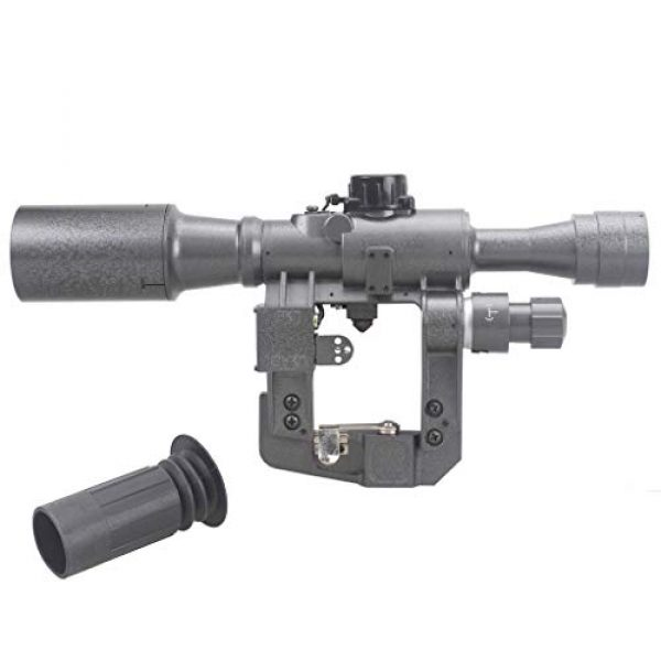 Vector Optics Rifle Scope 1 Vector Optics SVD Dragunov 4x24mm First Focal Plane (FFP) Tactical Riflescope with Red Illuminated Rangefinding Reticle