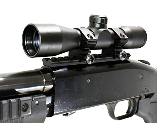 TRINITY Rifle Scope 1 TRINITY Mossberg 500 Mossberg 590 4x32 Scope and Rail Mount Kit Picatinny Weaver Mount Adapter Aluminum Black Tactical Optics Hunting Accessory mildot Reticle Target Range Gear Single Rail.