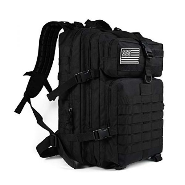 Heran Tactical Backpack 1 Tactical Backpack 45L Army 3 Day Assault Pack Molle For Bag Heavy Duty Black