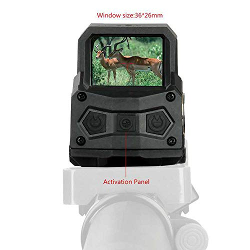 UELEGANS Rifle Scope 2 UELEGANS Red Dot Sight Scope, Rechargeable USB Holographic Optical Sight, 20Mm Reflex Sight for Rail Mounting, Suitable for Outdoor Hunting