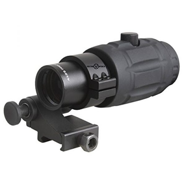 Vector Optics Rifle Scope 6 Vector Optics 3X, 4X, 5X Tactical Maginifier with Flip-to-Side Detach Quick Release QD Picatinny Mount and Flip-up Scope Lens Cover for Red Dot Reflex Sight (Matte Black) (4X)