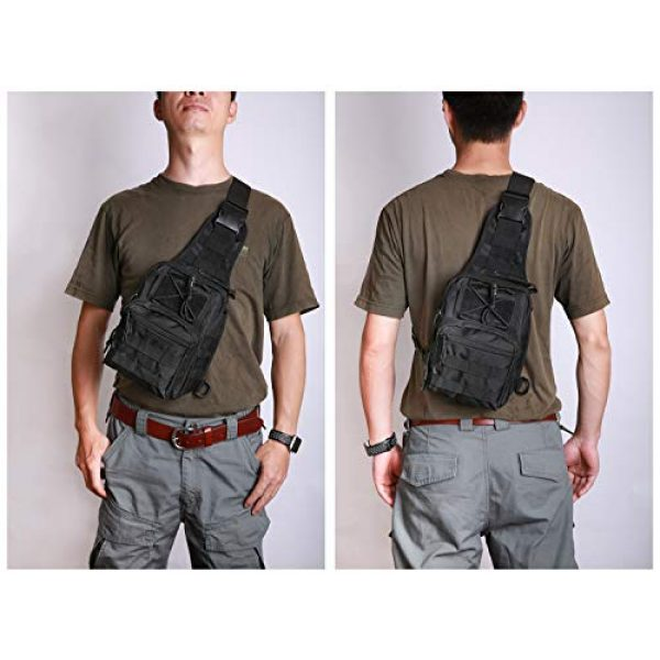 FengJu Tactical Backpack 6 Tactical Molle Military Shoulder Bag, Sling Shoulder Messenger Chest Pack for iPad or Gear Transport While Cycling, Hiking or Daily Use
