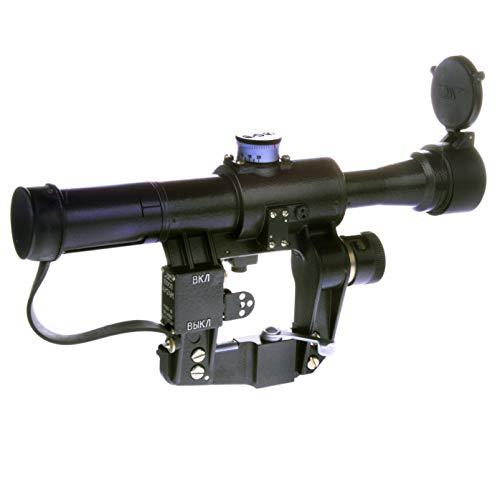 BelOMO Rifle Scope 1 BelOMO POSP 4x24 M. Optical Rifle Scope. Russian Side Mount. 1000m Rangefinder. 1 MOA. Combloc