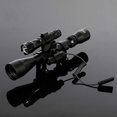 Pinty Rifle Scope 7 Pinty 3-9X40 Duplex Optical Hunting Rifle Scope Combo with Red Laser and Torch