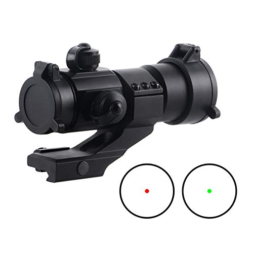UELEGANS Rifle Scope 4 UELEGANS Hunting Scope Sights 4MOA 1x32 Red Green Dot Reflex Sight Scope with Picatinny Cantilever Mount