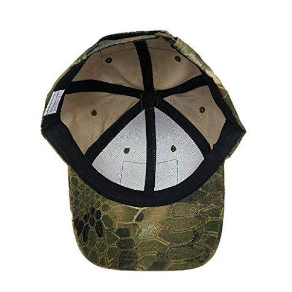 DOngRWF Tactical Hat 4 DOngRWF Outdoor Sport Military Tactical Cap, Army Hat Hunting Camouflage Strip Type Loop Behind Baseball Cap Include 3 Pieces Tactical Military Patches