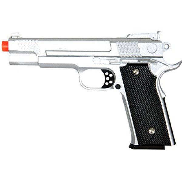 UKARMS Airsoft Pistol 1 UKARMS 350 FPS G20S Metal Airsoft Pistol -M945 Tactical Spring Handgun - Silver