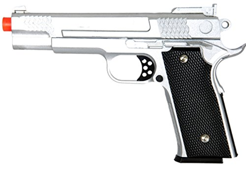 UKARMS Airsoft Pistol 1 UKARMS 350 FPS G20S Metal Airsoft Pistol -M945 Tactical Spring Handgun - Silver