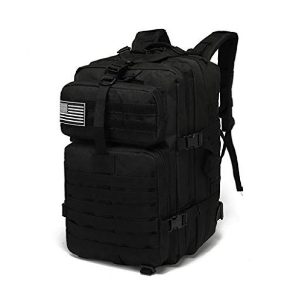 VooDoo Tactical Tactical Backpack 1 Military Tactical Assault Backpack Army MOLLE Rucksack, 3 Day Pack,for Outdoor Hiking Camping Trekking Hunting (Black)