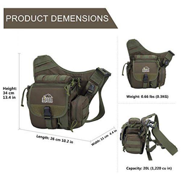Aveler Tactical Backpack 2 Aveler Nylon Multifunction Sling Bag Tactical MOLLE Military Crossbody Backpack