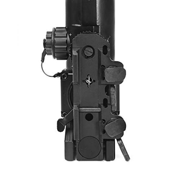 Luger Rifle Scope 7 Luger Tactical 1x-4x Magnification Optic Fixed Dual Purpose Scope Combo with Mini Red Dot Sight Wide Angle for Rifle Hunting Shooting