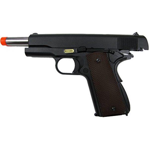 WE Airsoft Pistol 6 WE hi-capa 191 gas blowback full metal - black(Airsoft Gun)