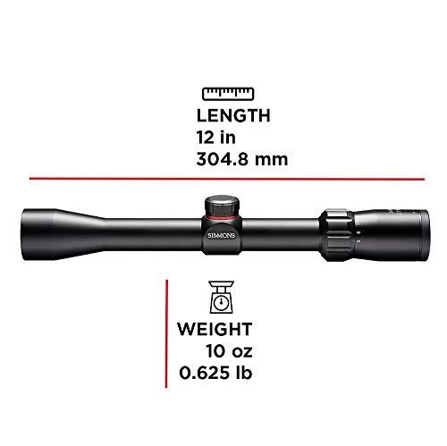 Simmons Rifle Scope 4 Simmons 3-9x32mm .22 Waterproof Fogproof Matte Black Riflescope (511039)