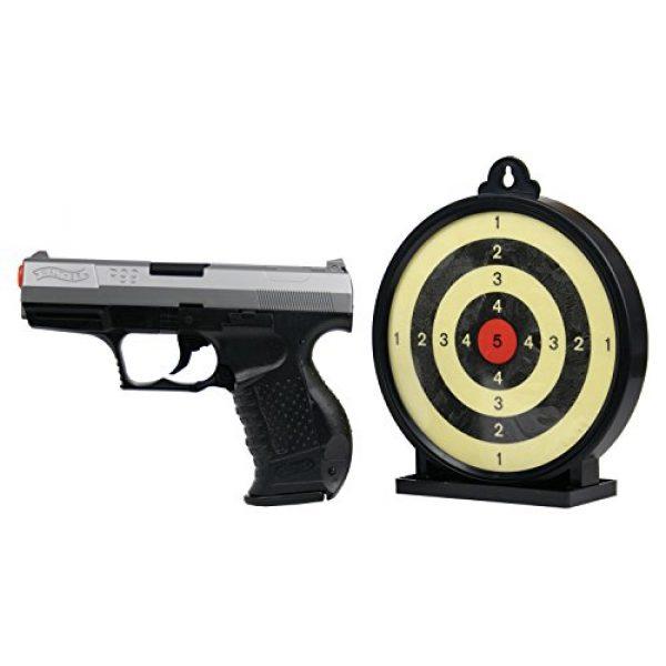 Elite Force Airsoft Pistol 2 Umarex P99 Bi-Color Action Kit w/ Target Airsoft, Black/Grey