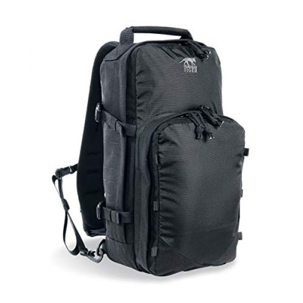 Tasmanian Tiger Tactical Backpack 1 Tasmanian Tiger TAC Sling Pack 12, Tactical Sling Bag with MOLLE, YKK Zippers, Hydration Compatible