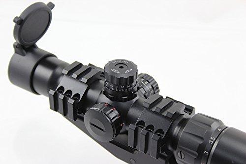 FOLEY Rifle Scope 4 FOLEY 1.5-4X30 Tri-Illuminated Mil Dot or Horseshoe or Chevron Reticle Riflescope with Locking Turrets