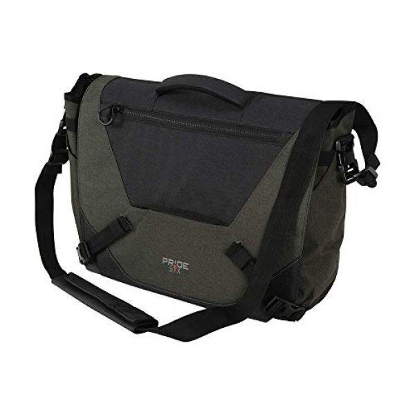 Allen Company Tactical Backpack 1 Allen Company Pride6 Base Tactical Messenger Bag, Courier Bag, Shoulder Bag, with Laptop and Conceal Carry Pocket, Internal Pockets, Tightening System, Green/Black