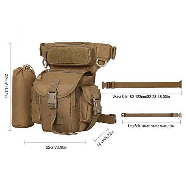 Eshow Tactical Backpack 2 Eshow Men's Drop Leg Pouch Tools Bags Tactical Leg Bag Fanny Pack Thigh Bags Bike Cycling Hip Bag Canvas Waist Packs