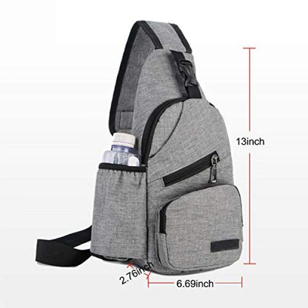 ChangYou Tactical Backpack 7 ChangYou Sling Bag Chest Backpack with USB Charging Port Polyester Shoulder Bag for Outdoor Sports Travel