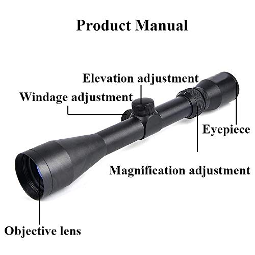 GOTICAL Rifle Scope 2 GOTICAL 3-9X40 Rifle Scope with One Pair 20mm Rail Mounts | Hunting scopes