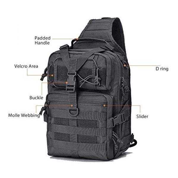 HAOMUK Tactical Backpack 2 Tactical Sling Bag Pack Military Rover Shoulder Sling Backpack EDC Molle Assault Range Bag