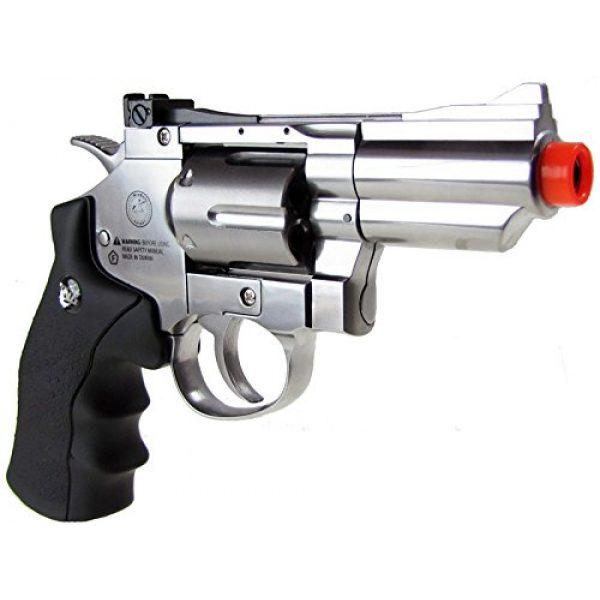 "Boomingisland Airsoft Pistol 3 Boomingisland Wingun 708 2.5"" Airsoft CO2 Revolver Silver"