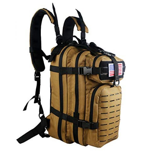 Warriors Product Tactical Backpack 2 Warriors Product Small Assault Backpack Military Tactical Backpack Bag with Flag Patch for Outdoor,Hiking, Camping Travel