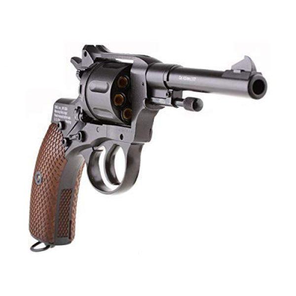 Nagant Air Pistol 4 Nagant Gletcher NGT F CO2 BB Revolver, Black air pistol