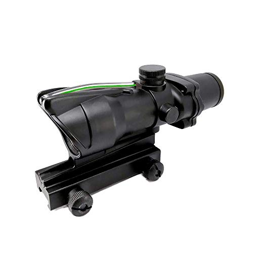 Haoyipu Rifle Scope 4 HYP 4x32 Scope Hunting Scopes Red or Green Chevron Glass Etched Reticle Real Fiber Optics Tactical Optical Sights Scope