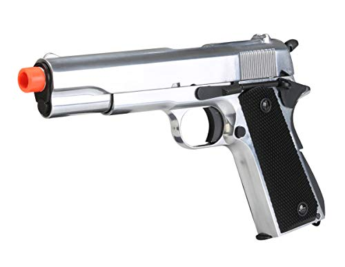 BULLDOG AIRSOFT Airsoft Pistol 5 SR1911 Airsoft Gas Pistol with Free Speed Loader BBS and Gun Case [Airsoft Blowback]