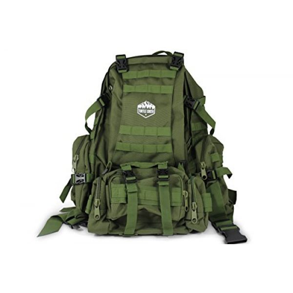 Turtle Creek Gear LLC Tactical Backpack 1 Turtle Creek 50L Hiking Backpack - Durable Tactical Backpack with 1000D Nylon - Water Resistant Camping Backpack - Sturdy Tactical Rucksack for Hunting and Trekking - Military Backpack