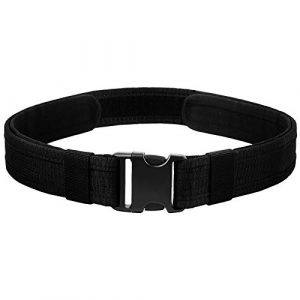 AIRSSON Tactical Belt 1 AIRSSON Duty Belt, Utility Belt, Police Tactical Belt Strong Load Bearing with Quick Release Buckle for Tactical Official EDC Use (1.5 inch)