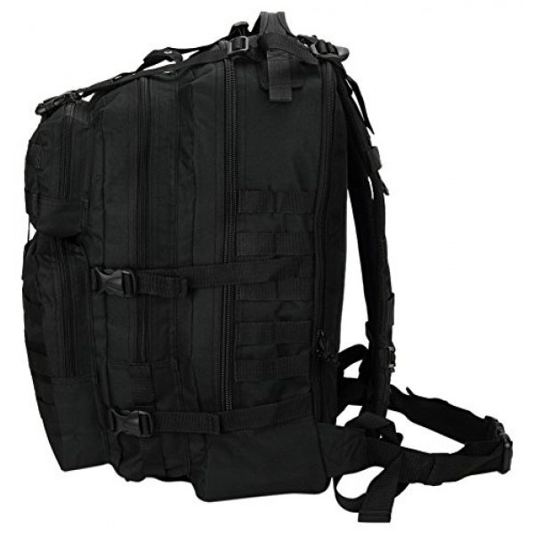 """NPUSA Tactical Backpack 6 Mens Large 21"""" Tactical Gear Molle Hiking Hydration Ready Backpack Daypack Bag + Key Ring Carabiner"""