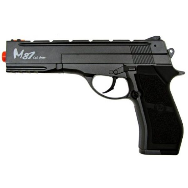 WG Airsoft Pistol 2 WG m84 long full metal co2 airsoft pistol - black/sliver(Airsoft Gun)