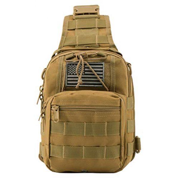 Luckin Packin Tactical Backpack 7 Luckin Packin Tactical Backpack,Military Backpack 45L with Tactical Sling Bag Khaki