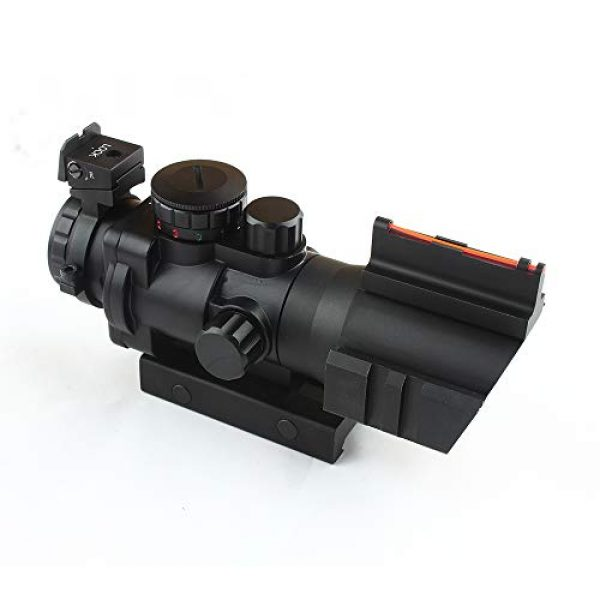 HONESTILL Rifle Scope 2 HONESTILL 4x32 Tactical Rifle Scope Red Dot Sight 20mm Dovetail Reflex Optics Scope with Fiber Optic Sight