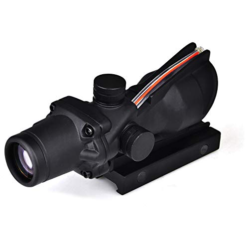 Armybase Rifle Scope 5 Armybase Riflescope ACOG 4X32 Real Fiber Optics Red Dot Illuminated Chevron Glass Etched Reticle Tactical Optical Sights Scope