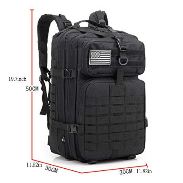 Suoki Tactical Backpack 2 Molle Assault Pack 45L Military Tactical Backpack 3 Day Pack Bag Survival Rucksack