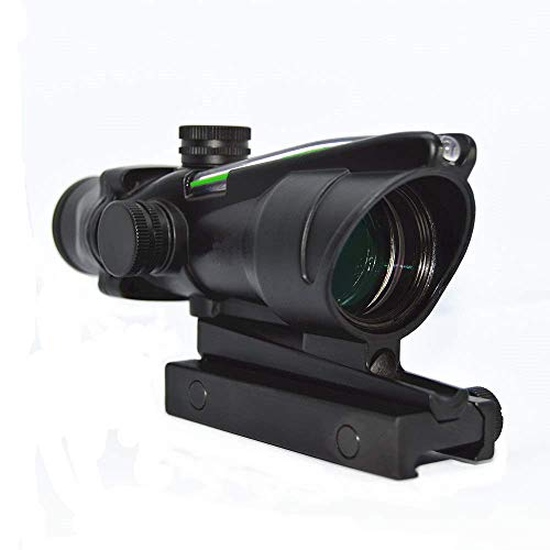 Haoyipu Rifle Scope 2 HYP 4x32 Scope Hunting Scopes Red or Green Chevron Glass Etched Reticle Real Fiber Optics Tactical Optical Sights Scope