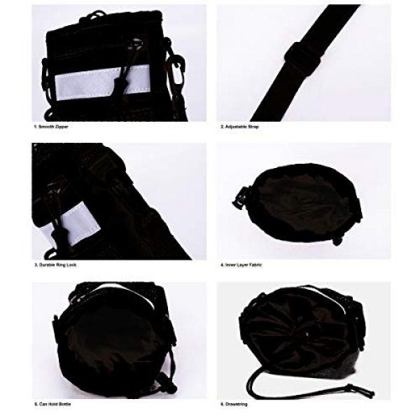 BraveHawk OUTDOORS Tactical Backpack 4 BraveHawk OUTDOORS Shoulder Messenger Bag Bottle Holder Pouch, 800D Military Nylon Oxford EDC Phone Holder Small Crossbody Pack