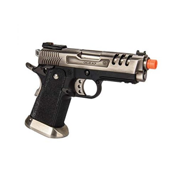 Lancer Tactical Airsoft Pistol 4 Lancer Tactical WE-Tech Hi-Capa 3.8 Deinonychus Full Auto Gas Blowback Airsoft Pistol Silver
