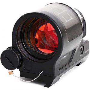 TTHU Rifle Scope 1 TTHU Rifle Scope Red Dot Sight Scope Holographic Reflex Sight Solar Power System Optics Rifle Scope Tactical Riflescopes for Hunting